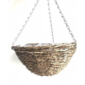 Hanging Basket Rattan 35cm