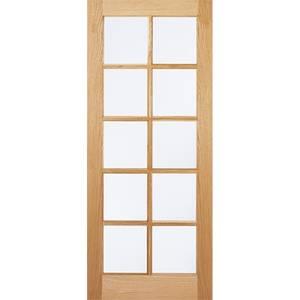 SA Internal Glazed Unfinished Oak 10 Lite Door - 762 x 1981mm
