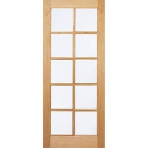 SA Internal Glazed Unfinished Oak 10 Lite Door - 686 x 1981mm
