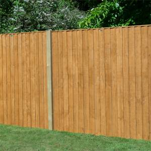 Forest Featherdge Dip Treated Fence Panel - 5ft - Pack of 3