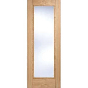 Vancouver Pattern 10 Internal Glazed Prefinished Oak 1 Lite Fire Door - 762 x 1981mm