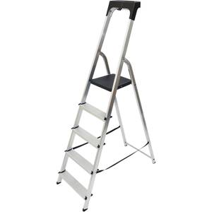 Werner High Handrail Step Ladder with Tool Tray - 5 Tread