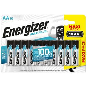Energizer MAX PLUS Alkaline AA Batteries - 10 Pack
