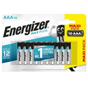 Energizer MAX PLUS Alkaline AAA Batteries - 10 Pack