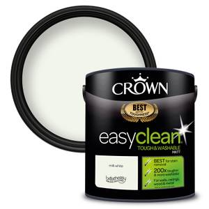 Crown Easyclean 200 Milk White Matt Paint - 2.5L