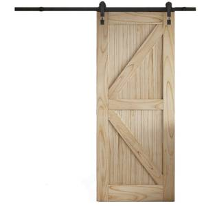 Cottage FLB Sliding Barn Door with Industrial Track 2073 x 862mm