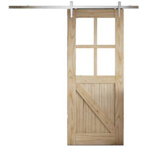 Cottage FLB Sliding Barn Clear Glazed Door with Provincial Track 2073 x 862mm