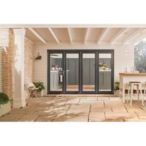 Bedgebury Grey Folding Sliding Patio Doorset  2994 x 2094mm