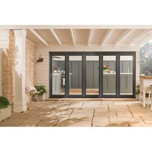 Bedgebury Grey Folding Sliding Patio Doorset 3594 x 2094mm