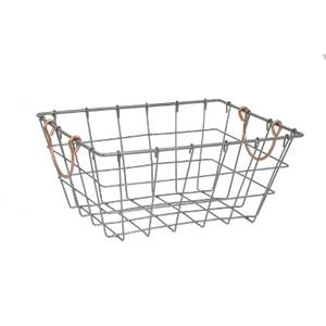 Large Metal Wire Basket with Handles