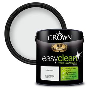 Crown Easyclean 200 Chalky White Matt Paint - 2.5L