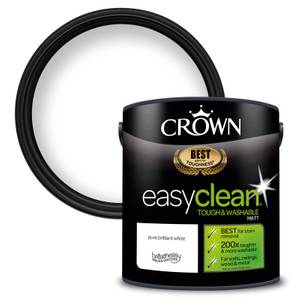 Crown Easyclean 200 Pure Brilliant White Matt Paint - 2.5L