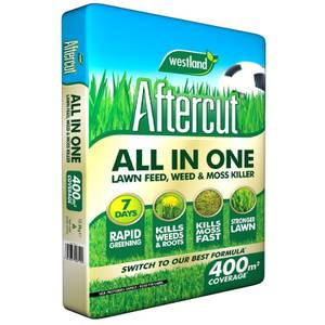 Aftercut All in One Lawn Feed, Weed and Moss Killer - 400m2