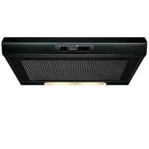 Hotpoint PSLCSE65FASK Visor Cooker Hood - 60cm - Black