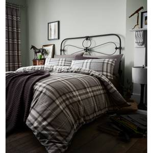 Catherine Lansfield Kelso Easy Care Single Duvet Set - Charcoal