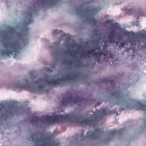 Arthouse Diamond Galaxy Cloud Textured Glitter Purple Wallpaper