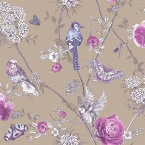 Arthouse Paradise Garden Floral Smooth Glitter Mink Wallpaper