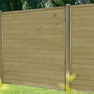 Horizontal Tongue & Groove Fence Panel - 6ft - Pack of 4