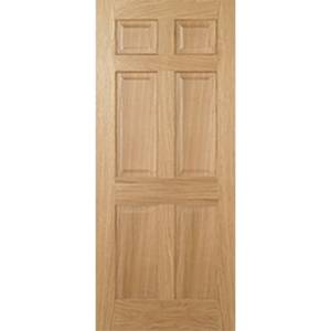 Regency Internal Prefinished Oak 6 Panel Fire Door - 686 x 1981mm