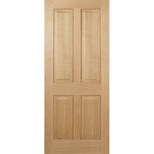 Regency Internal Prefinished Oak 4 Panel Fire Door - 686 x 1981mm