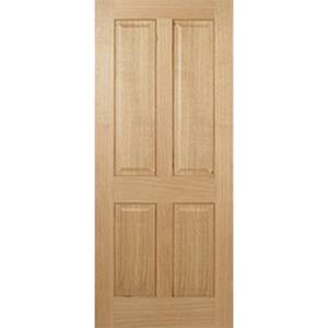 Regency Internal Prefinished Oak 4 Panel Fire Door - 762 x 1981mm