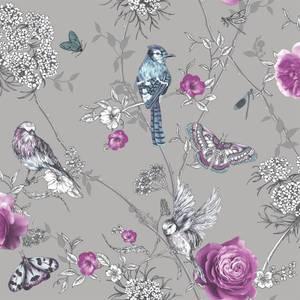 Arthouse Paradise Garden Floral Smooth Glitter Silver Wallpaper