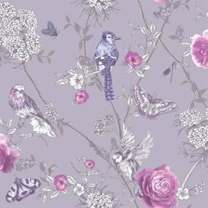 Arthouse Paradise Garden Floral Smooth Glitter Lilac Wallpaper