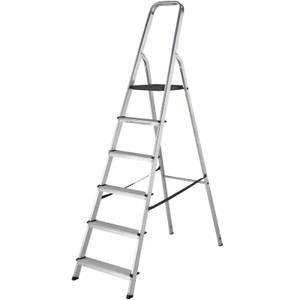 Werner High Handrail Step Ladder - 6 Tread