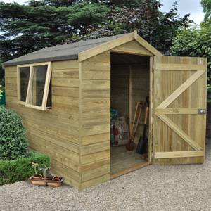 8x6ft Forest T&G Pressure Treated Apex Shed -incl. Installation