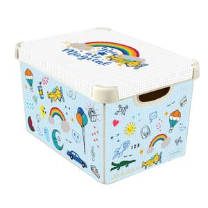 Curver Stockholm Back To School Plastic Deco Storage Box - Multi-Coloured - 22L