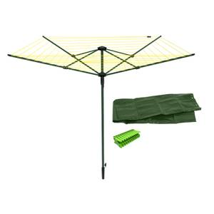 RotosSpin 50m 4 Arm Rotary Airer & Accessories