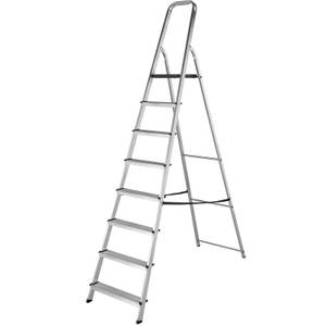 Werner High Handrail Step Ladder - 8 Tread