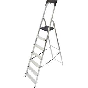 Werner High Handrail Step Ladder with Tool Tray - 7 Tread