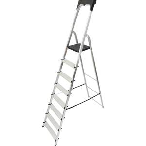 Werner High Handrail Step Ladder with Tool Tray - 8 Tread