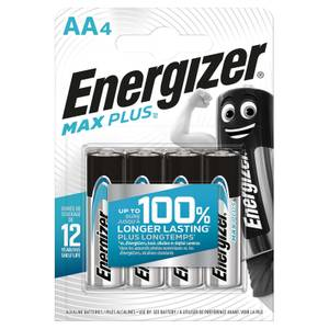 Energizer MAX PLUS Alkaline AA Batteries - 4 Pack