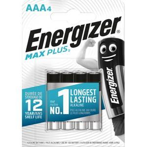Energizer MAX PLUS Alkaline AAA Batteries - 4 Pack