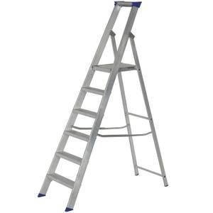 Werner MasterTrade Platform Step Ladder - 6 Tread