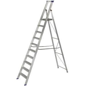 Werner MasterTrade Platform Step Ladder - 10 Tread