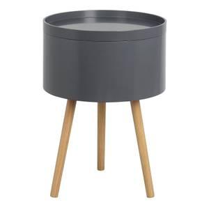 Storage Tray Side Table - Dark Grey