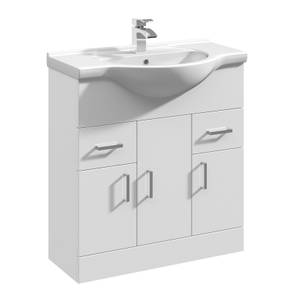 Balterley Orbit 750mm Freestanding Unit With Basin 1 - Gloss White
