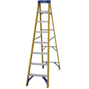 Werner Fibreglass Step Ladder - 8 Tread