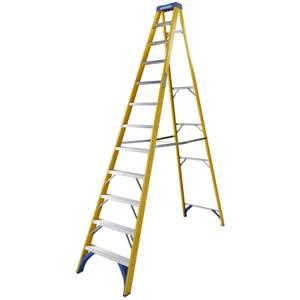 Werner Fibreglass Step Ladder - 12 Tread