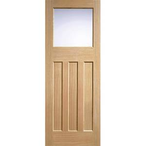 DX30's Style Internal Glazed Unfinished Oak 3 Panel 1 Lite Door - 686 x 1981mm