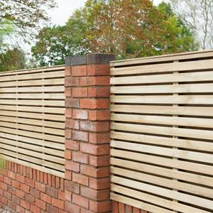 Forest Double Forest Slatted Fence Panel - 3ft - Pack of 5