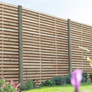 Forest Double Forest Slatted Fence Panel - 6ft - Pack of 5