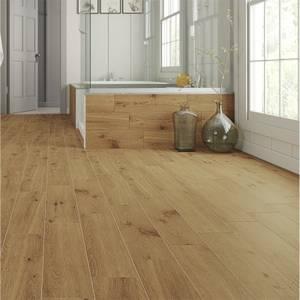 Forestina Wood Effect Dark Beige Floor Tiles - 600 x 150mm