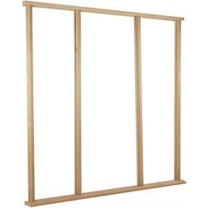 Vestibule Door Frame & Cill External Unfinished Oak Type - Suit up to Door Size 915 x 2135mm + Two Sidelights 610 x 2135mm