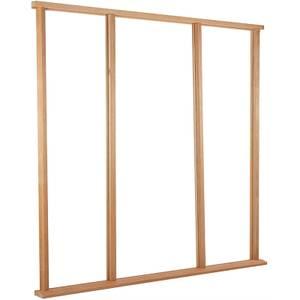 Vestibule Door Frame & Cill External Unfinished Hardwood - Suit up to Door Size 915 x 2135mm + Two Sidelights 610 x 2135mm