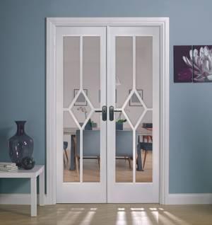 Reims Internal Glazed Primed White Room Divider - 1246 x 2031mm