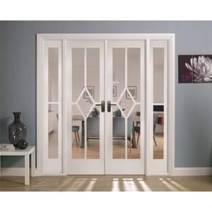 Reims Internal Glazed Primed White Room Divider - 1904 x 2031mm